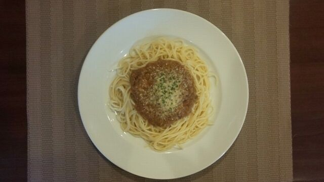 スパゲッティミートソース 1
