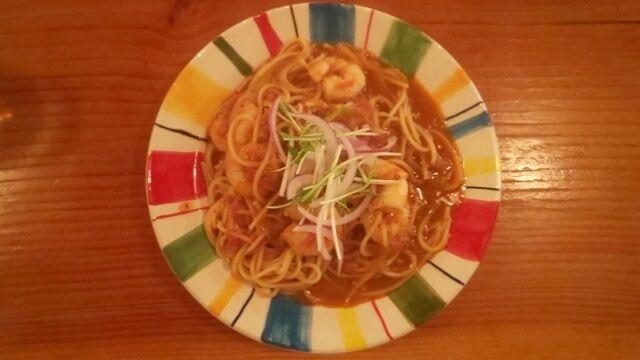 辛子ソースのスパゲティー 1