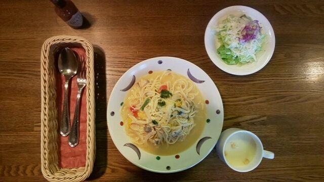 アサリのスパゲッティーセット 1