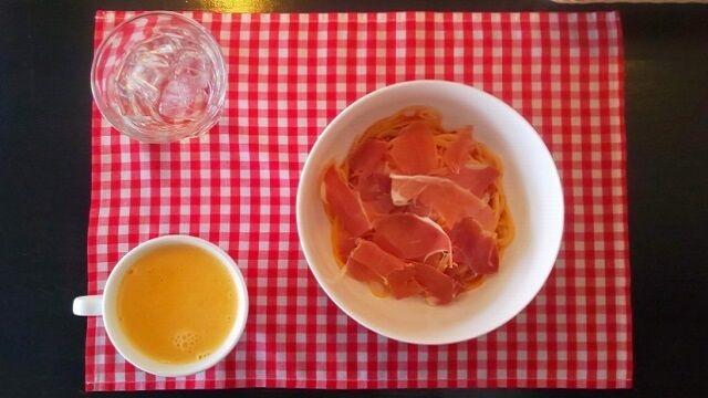 ハモンセラノのトマトソーススパゲティ 1