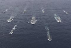 米・英・仏の空母が北東アジアに集結へ…国連軍がくる