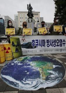 釜山の高校生が集会「福島原発の汚染水、日本人が飲め」