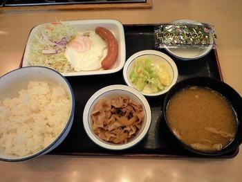 牛丼屋の朝定食