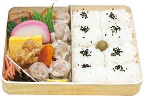 シュウマイ弁当を新幹線にて