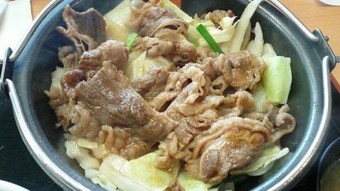 牛バラ野菜焼定食が美味しいらしい