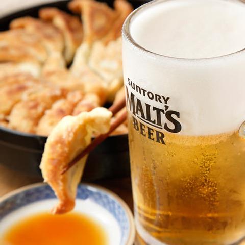 ラーメン屋で飲むビール
