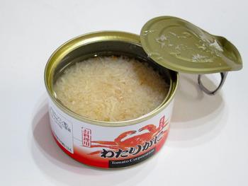 100円ショップのカニ缶