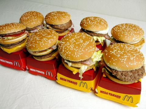 ハンバーガーを大量に食べる毎日