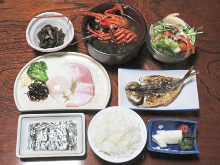 下田「伊勢エビの味噌汁付き朝食」