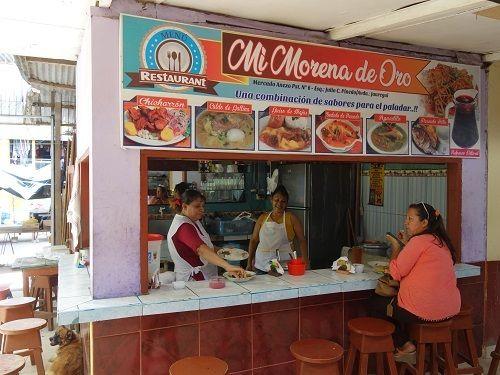 ユリマグアス市場でSUDADO DE PESCADO:魚のシチュー