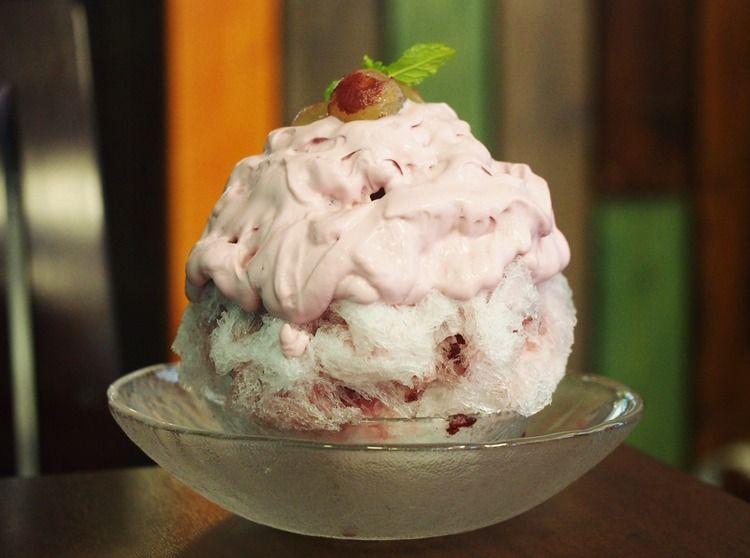 大阪・森ノ宮でかき氷!フルーツキッチンほのかで「ぶどうのエスプーマかき氷」を堪能!
