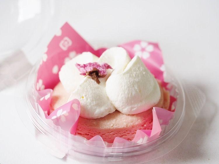 ローソン「Uchi Cafe Sweets」桜香るチーズスフレケーキ!