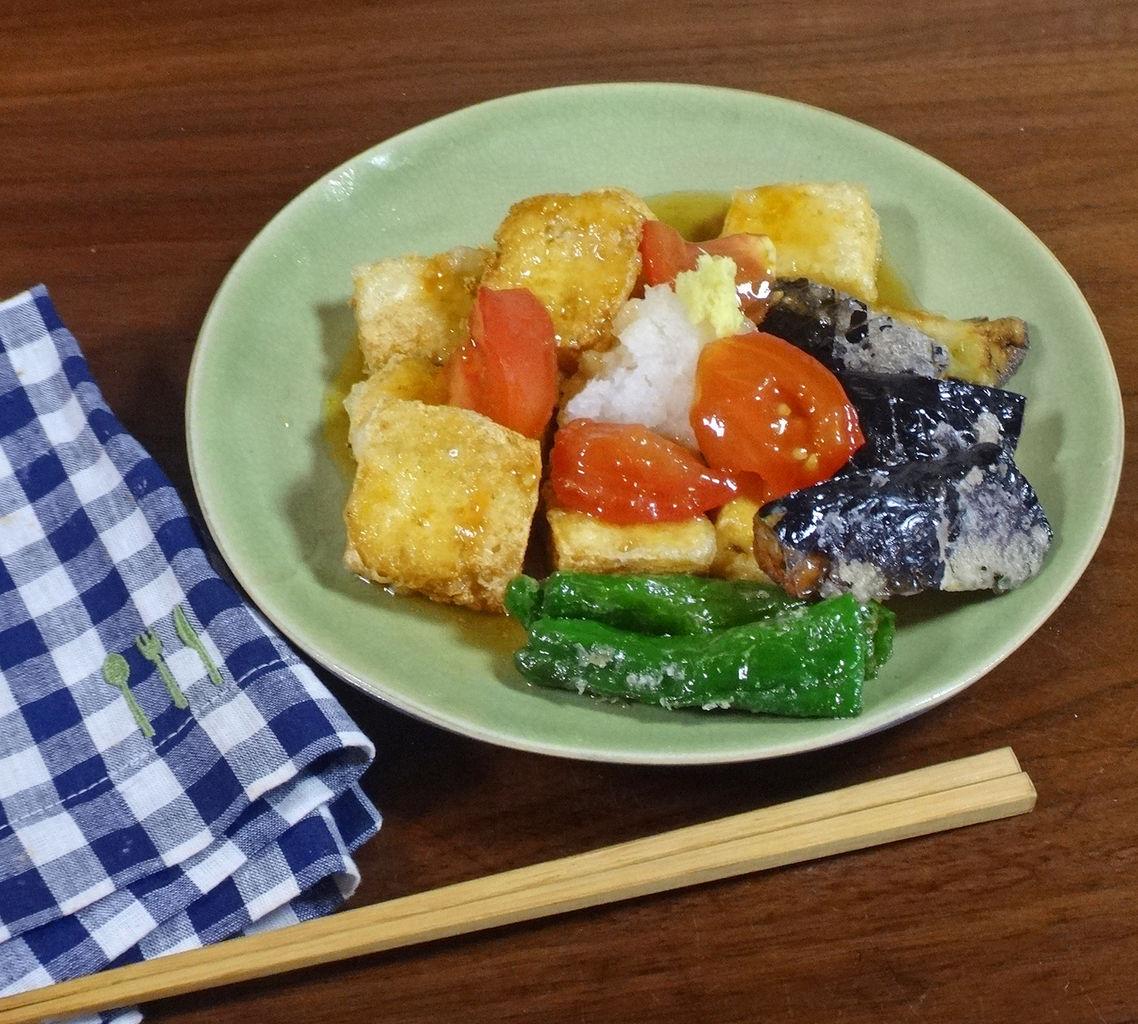 トマトで激うま!夏野菜の揚げだし豆腐