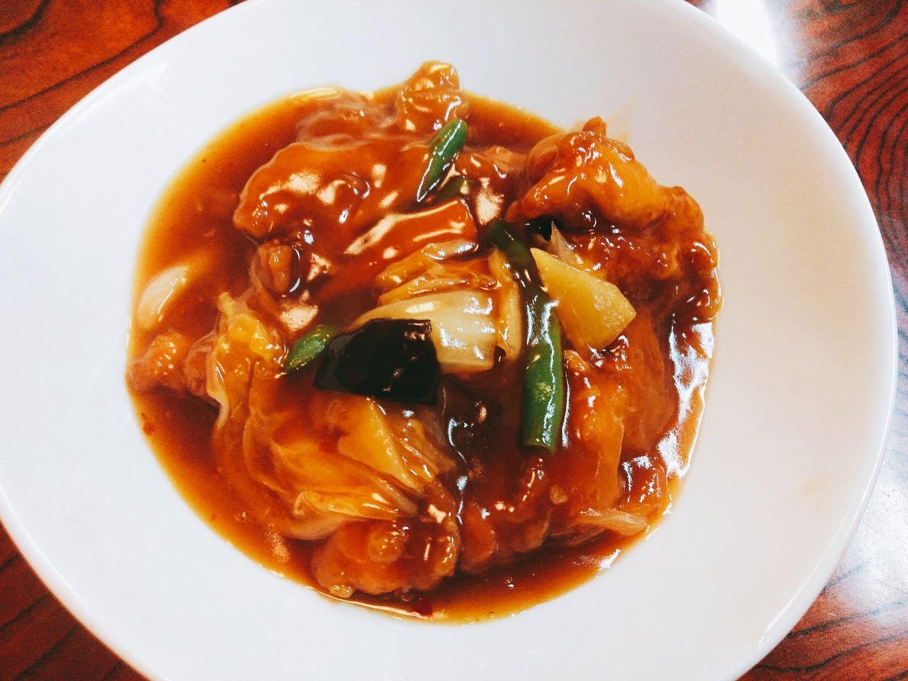 鶏肉野菜のうま煮、ラーメン