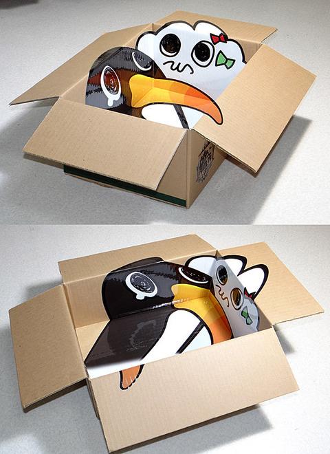 【試作】艦これ「ただの段ボール」(1台3役) そして中身は失敗ペンギンのトリックアートもどき