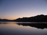 田沢湖の夕焼け