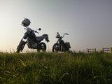 土手バイク
