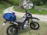 久川キャンプ場とバイク