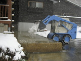 大釜温泉 温泉で融雪