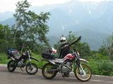 山とバイク