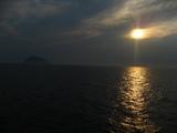 島と夕焼け