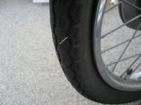 カブのタイヤの釘