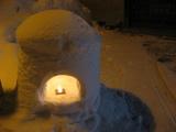 湯西川の雪行灯