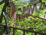 小滝坑道の銅でできた橋