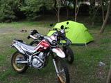 テントとバイク