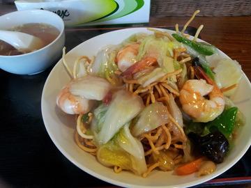 中国麺飯酒家 凛 井荻 海老塩あんかけ焼きそば20160616_132342