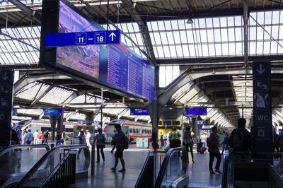 スイス旅行記 チューリッヒ中央駅IMGP3932