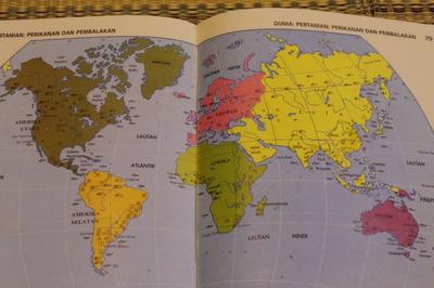 マレーシアマレー語世界地図帳集めるマニアコレクターIMGP6811