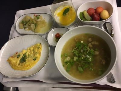 タイ国際航空ビジネスクラスロイヤルシルククラス機内食IMG_0977