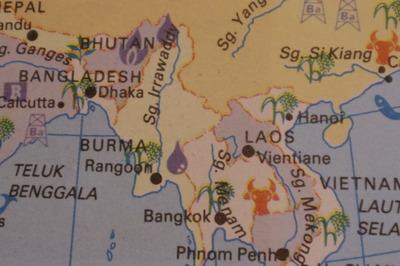 マレーシアマレー語世界地図帳集めるマニアコレクターIMGP6802