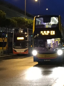 E11バス 早朝 香港国際空港 香港島IMG_1901