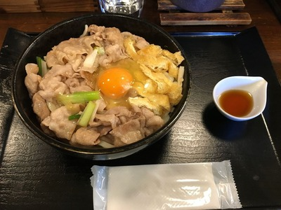 豚や@西荻窪 豚釜玉うどんIMG_1461
