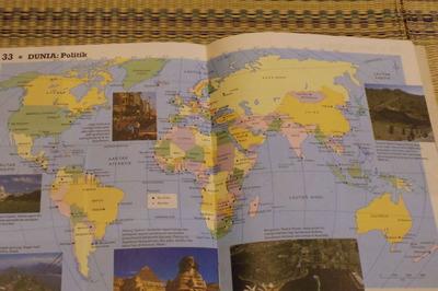 マレーシアマレー語世界地図帳集めるマニアコレクターIMGP6788