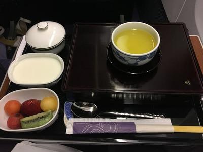 タイ国際航空ビジネスクラスロイヤルシルククラス機内食IMG_0978