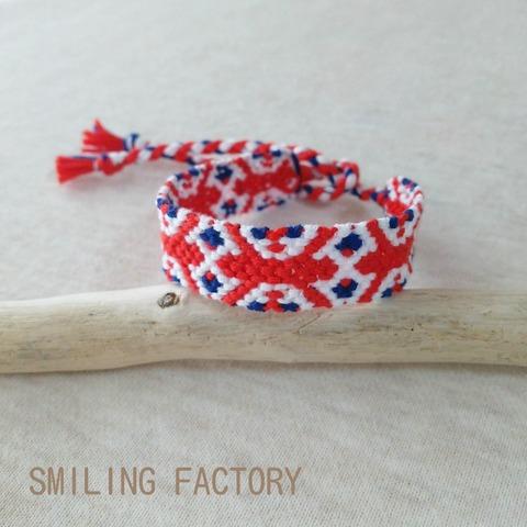 ユニオンジャックミサンガ/イギリス国旗模様