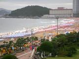 海雲台ビーチ(パラダイスホテルからの眺め)