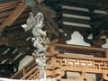 法隆寺金堂、柱の装飾