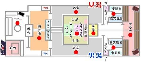 山城温泉(京都市上京区下横町)