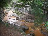 北投温泉街を流れる川
