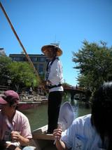 柳川の川くだり-船頭さん