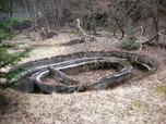 坑夫浴場跡