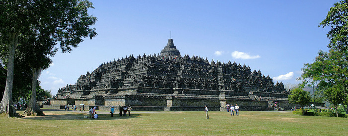 Borobudur-Nothwest-view