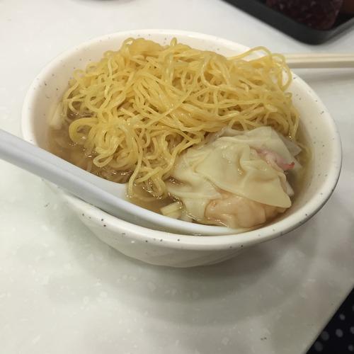上湯雲吞麵(スープ海老ワンタン麺)