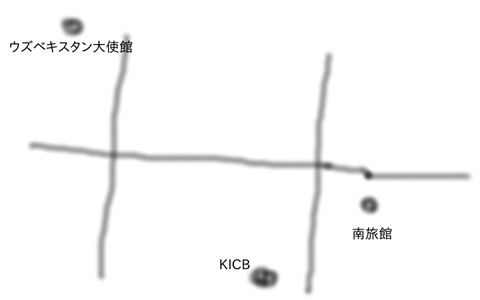 ウズベキ大使館地図