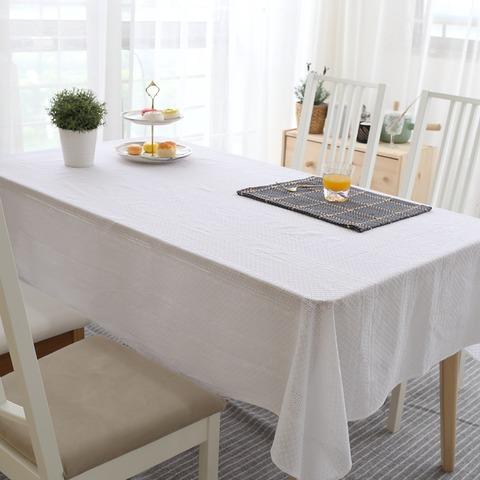 うすいレース生地のテーブルクロス(白)