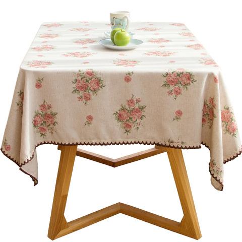 花柄ピンクのテーブルクロス